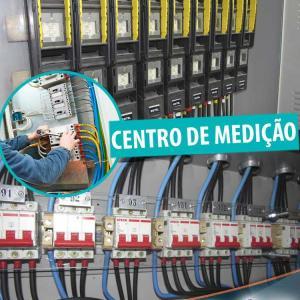 Montagem centro de medição